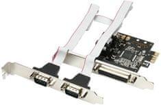 AXAGON PCI-Express adapter 1x paralel + 2x sér.+ LP