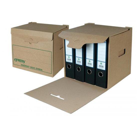 Emba Zberný box H/H zelená potlač