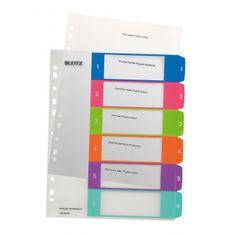 LEITZ Plastový rozraďovač WOW potlačiteľný 1-6 farebný