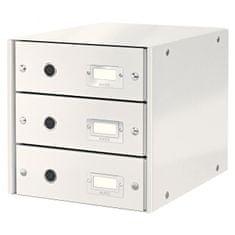 LEITZ Zásuvkový box Click & Store 3 zásuvky biela