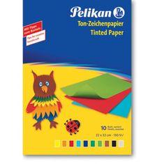 Pelikan Farebný papier 10ks 33x23cm mix farieb