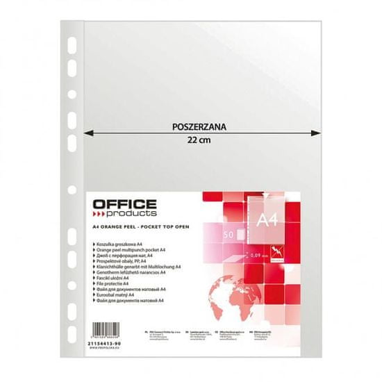 OFFICE products Euroobal Office Products A4 maxi matný 90mic 50ks