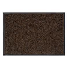 FLOMA Hnědá vnitřní vstupní čistící pratelná rohož Magic - 75 x 85 cm