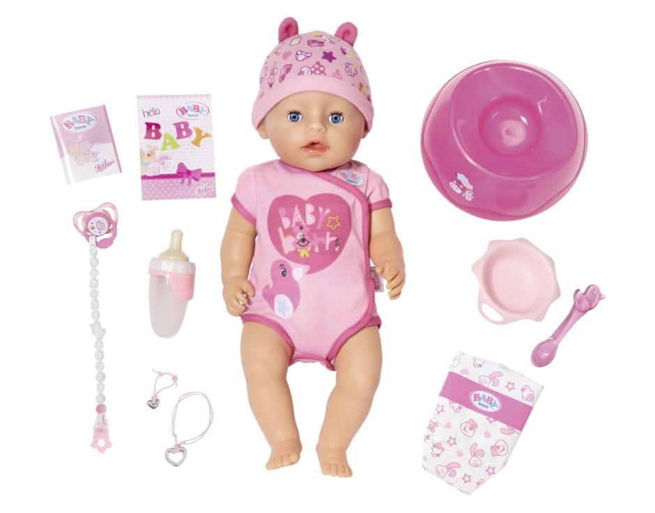 Zapf panenka BABY born, holčička (od 3 let)