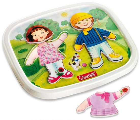 Quercetti Dressy Baby magnetic dress-up puzzle magnetyczna układanka
