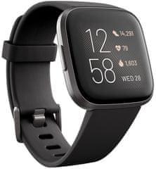 Fitbit Versa 2 (NFC) pametna ura, Black/Carbon