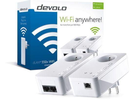 DEVOLO dLAN 550+ WiFi Starter Kit Powerline (9838)