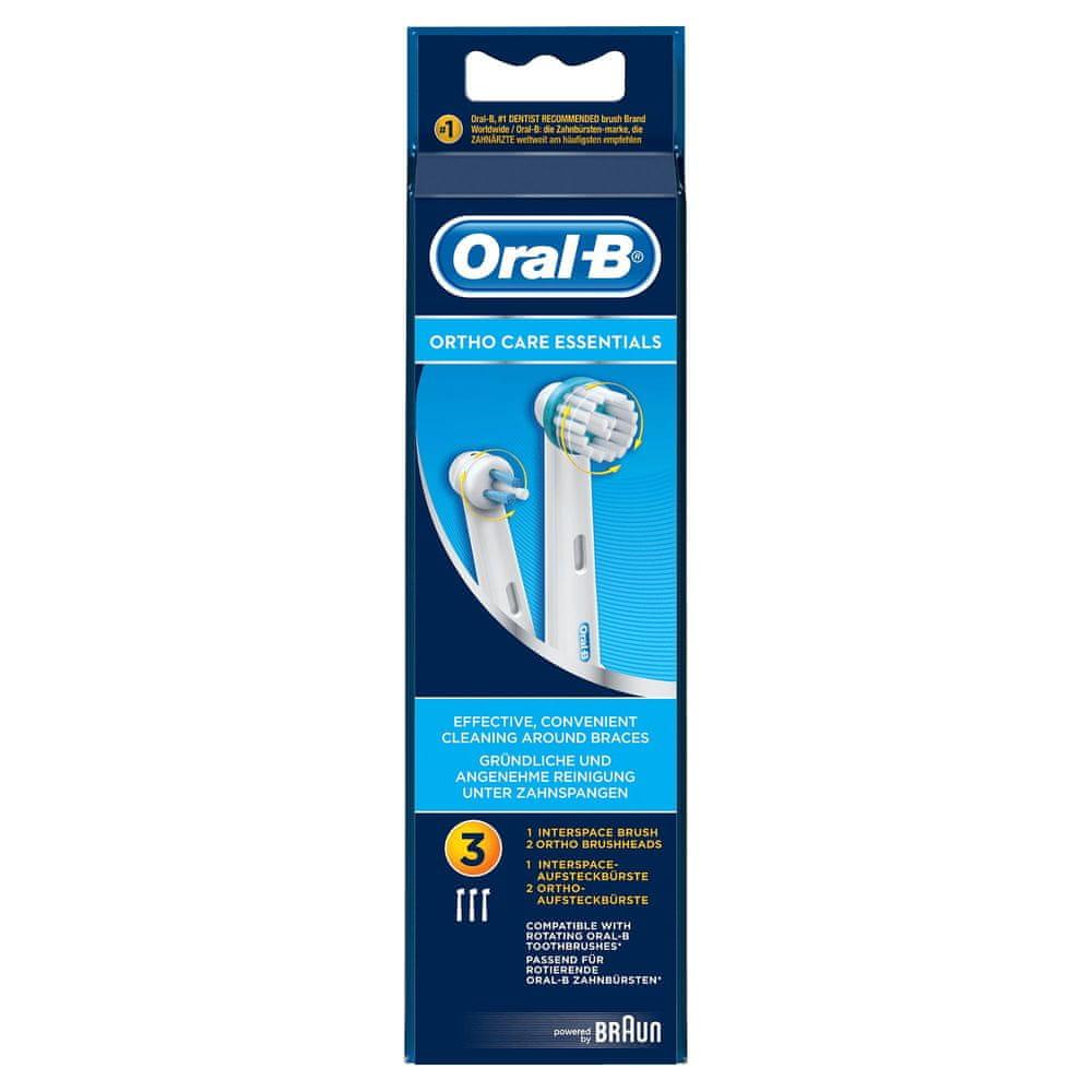 Oral-B Ortho 3 ks náhradní hlavice