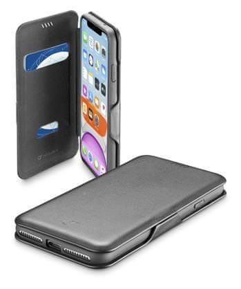 CellularLine preklopna torbica z magnetom za iPhone 11, črna