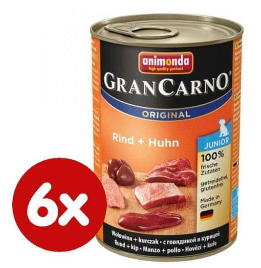 Animonda mokra karma dla psa GranCarno Junior kurczak + wołowina 6 x 400g
