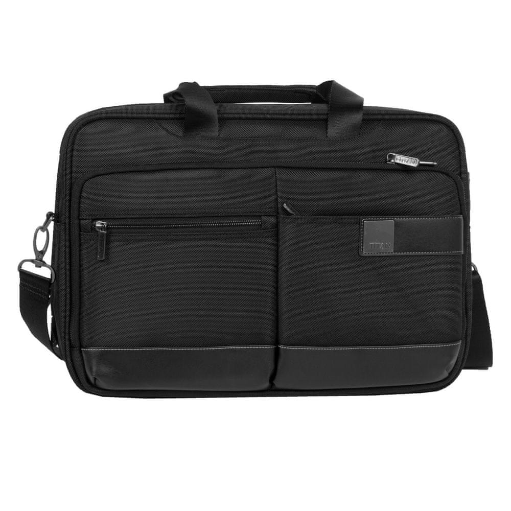 Titan Luggage Power Pack Laptop Bag L Black