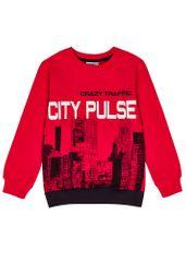 WINKIKI pulover za dječake, crvena, 134