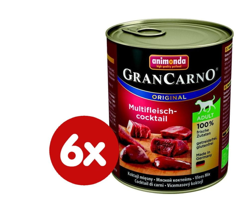 Animonda Grancarno Adult - multi masový koktejl 6 x 800g