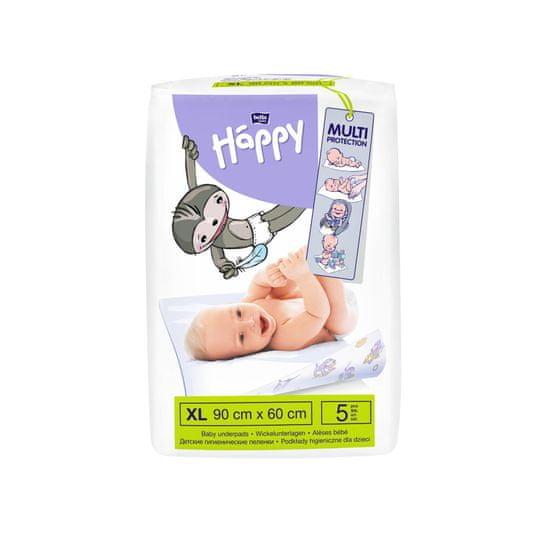 Bella Happy Detské prebaľovacie podložky 90 x 60 cm 4x 5 ks