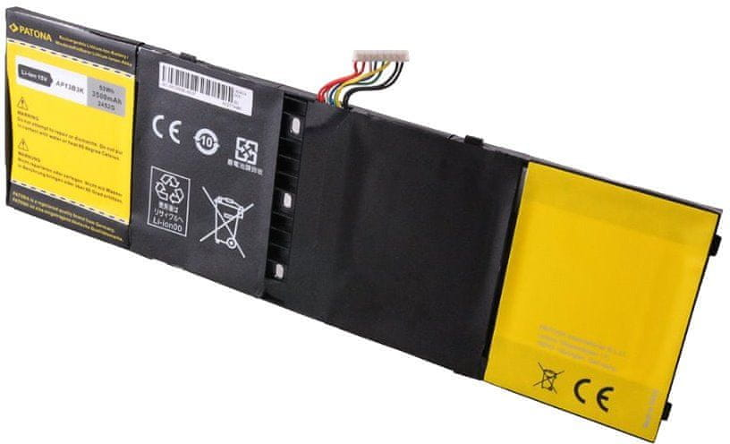 PATONA Baterie pro ntb ACER ASPIRE R7/V5/V7 3500mAh Li-Pol 15V AP13B3K, PT2452
