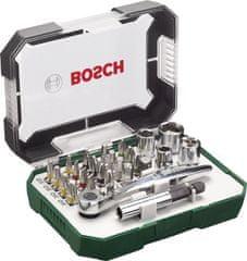 Bosch 26-dijelni komplet bitova izvijača s čegrtaljkom (2607017322)