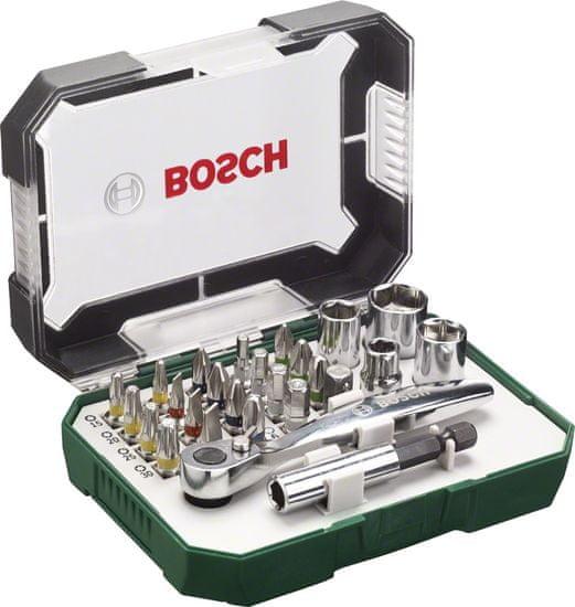 Bosch Sada bitov s račňou, 26 dielna 2.607.017.322