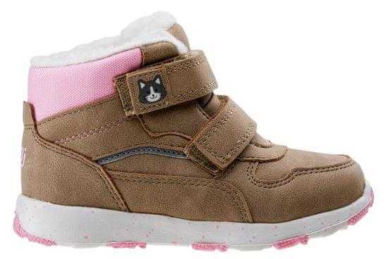 Bejo Eladio Kids G dekliški čevlji beige/pink/reflective