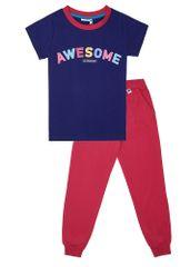 WINKIKI pidžama za djevojčice, 152, navy/raspberry