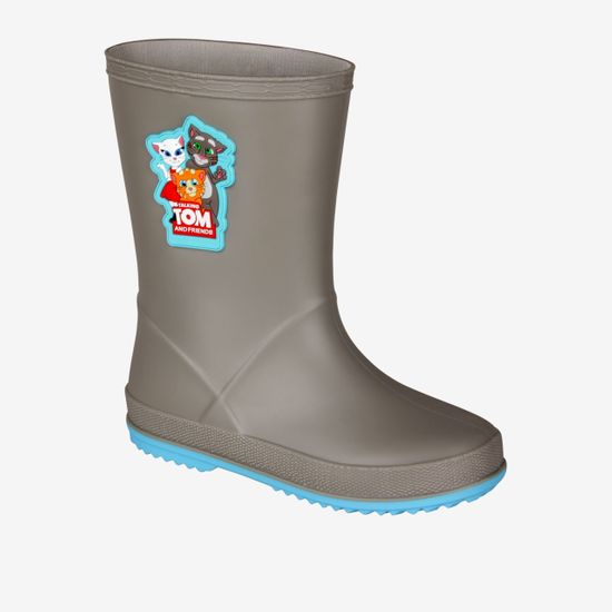 Coqui Rainy Talking Tom & Friends otroški škornji Mid. grey/New blue