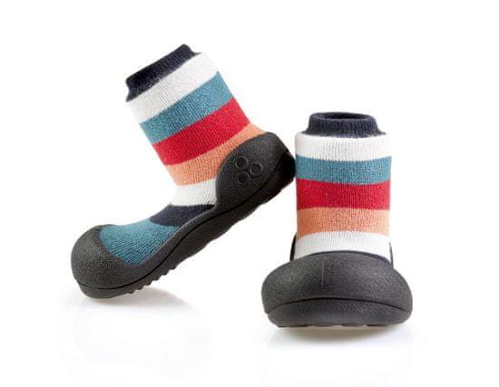 Attipas otroški čevlji Rainbow Black