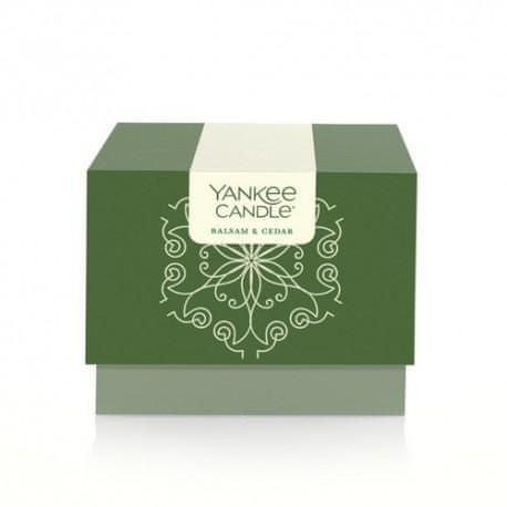 Yankee Candle Vonná svíčka 198 g Balsam & Cedar v dárkovém balení - limitovaná edice!
