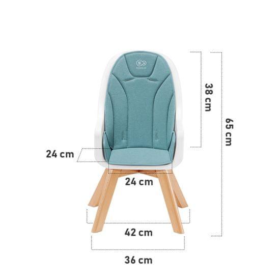 KinderKraft jedilni stol 2v1 TIXI, siv - Odprta embalaža