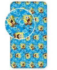 Prostěrado Sponge Bob modrá