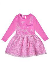 WINKIKI dívčí šaty 104 Pink / White