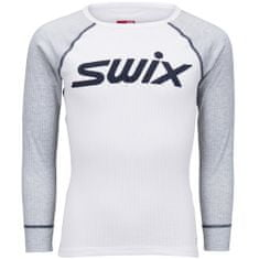 Swix otroška majica RACEX, 116, siva