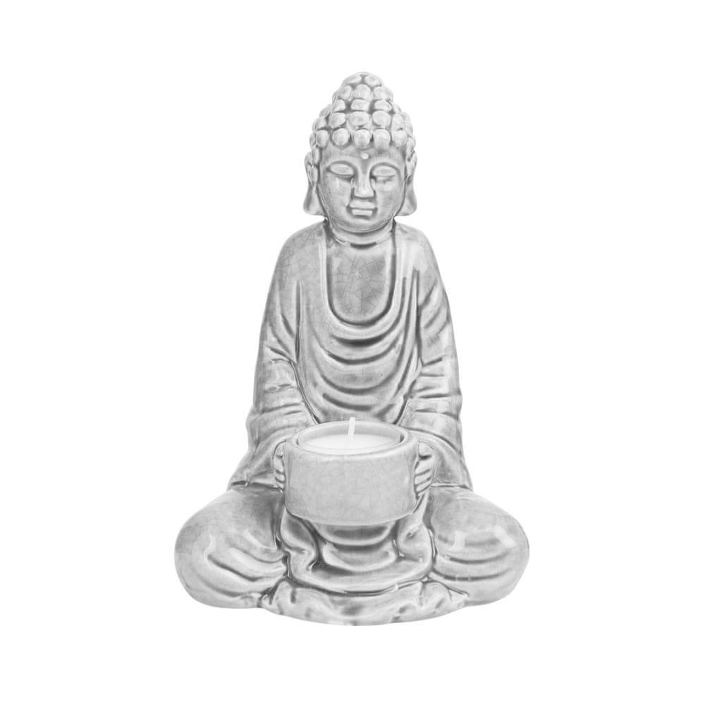 Butlers Soška na čajovou svíčku - šedá