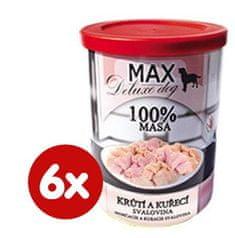 FALCO karma dla psów MAX deluxe mięso z indyka i kurczaka, 6 x 400 g