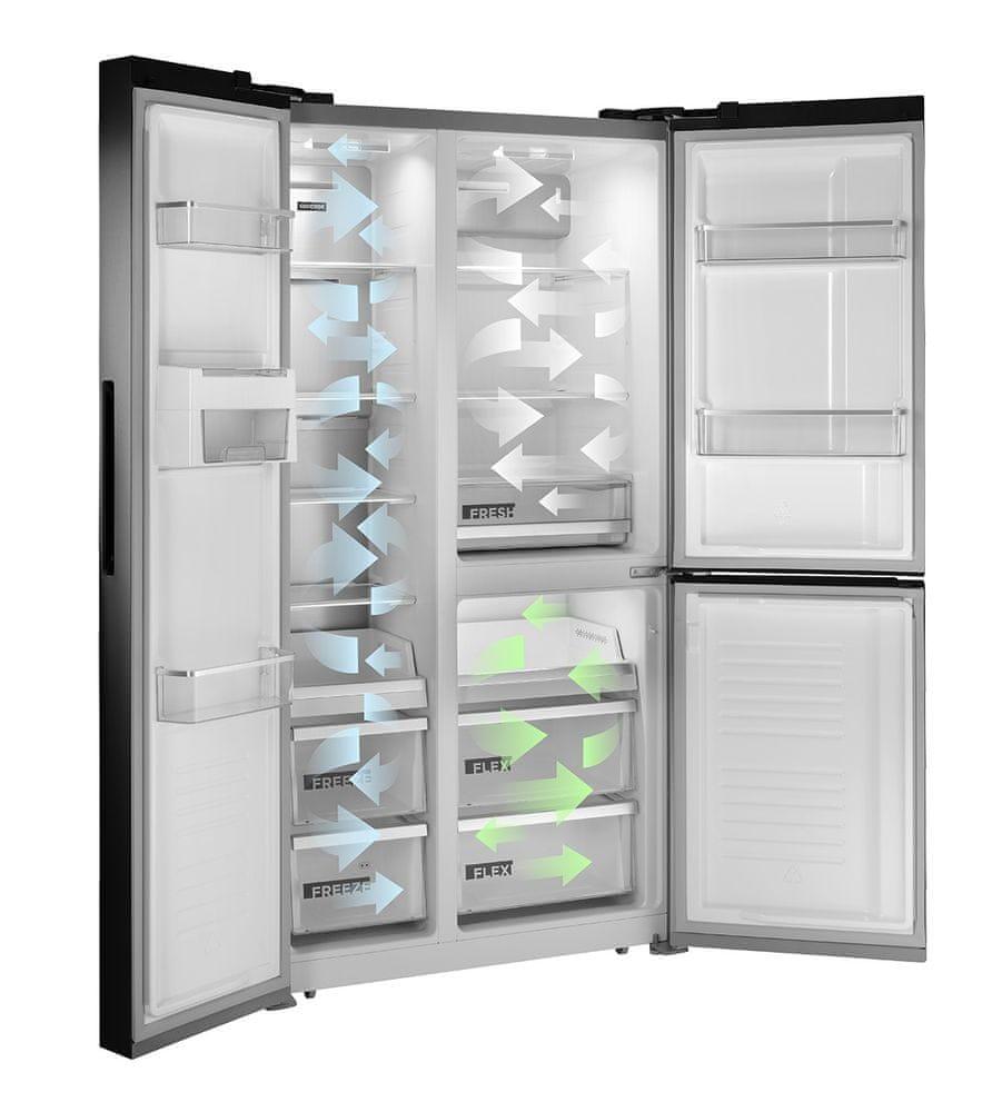 Concept americká lednička LA7791ds