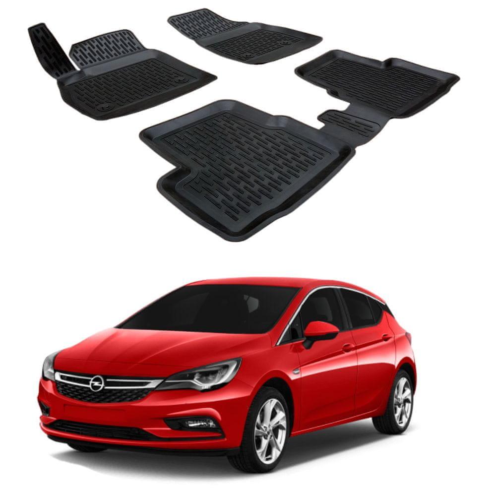 SCOUTT Gumové koberce 3DS SCOUTT Opel Astra K 2016 -