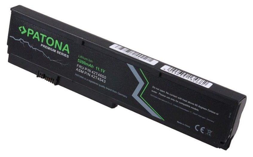 PATONA Baterie PREMIUM pro notebooky IBM Thinkpad X200, 5200 mAh, Li-Ion, 11,1 V (PT2414)