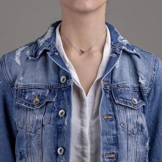 Emily Westwood Elegancki stalowy naszyjnik z gołębiem WN1005S
