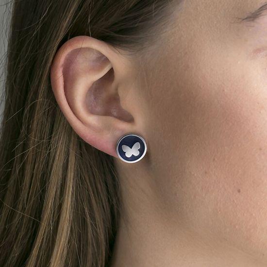 Emily Westwood Acél kövek fülbevalók WE1031S