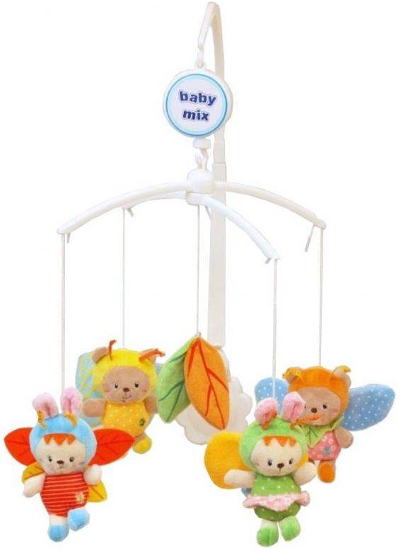 Baby Mix plyšový kolotoč nad postýlku - Včelky