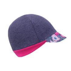 Unuo Street dekliška kapa s šiltom, cvetličen vzorec, džins, XS