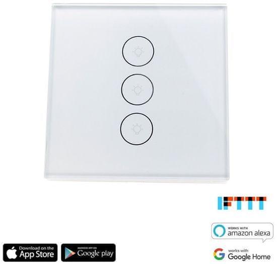 iQ-Tech SmartLife IQS003, Wi-Fi vypínač trojitý