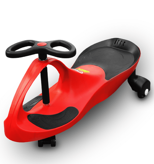 RIRICAR Samochodiace autíčko RIRICAR s PU kolesami Červený
