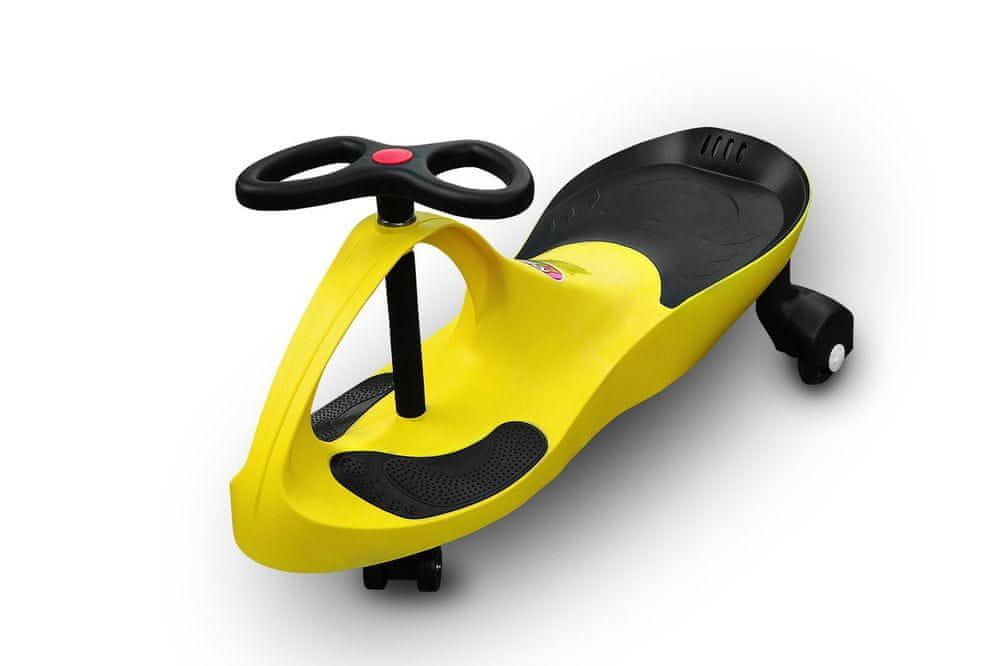 RIRICAR Samochodiace autíčko RIRICAR s PU kolesami žltý
