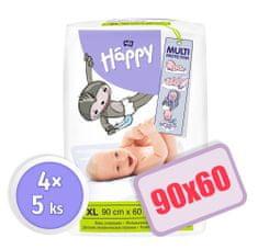 Bella Happy Dětské přebalovací podložky 90x60 4x 5 ks