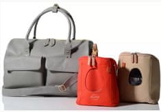 PacaPod LORETO sivá - luxusná kožená prebaľovacia taška