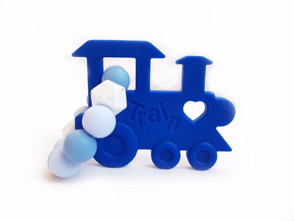 KidPro Silikonové kousátko: Mašinka modrá