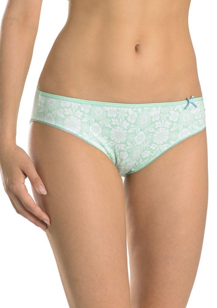 Key Dámské kalhotky LPR 503 A8 - KEY zelená-modrá XL