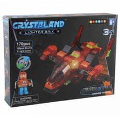 CrystaLand kocke za sestavljanje Letalo 3v1, 170kos