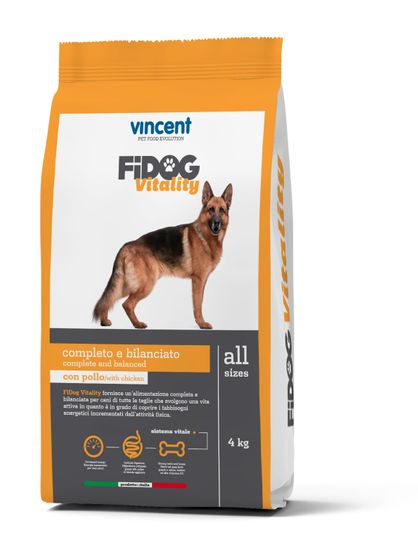 Vincent Fidog Vitality suha hrana za odrasle pse, 4 kg