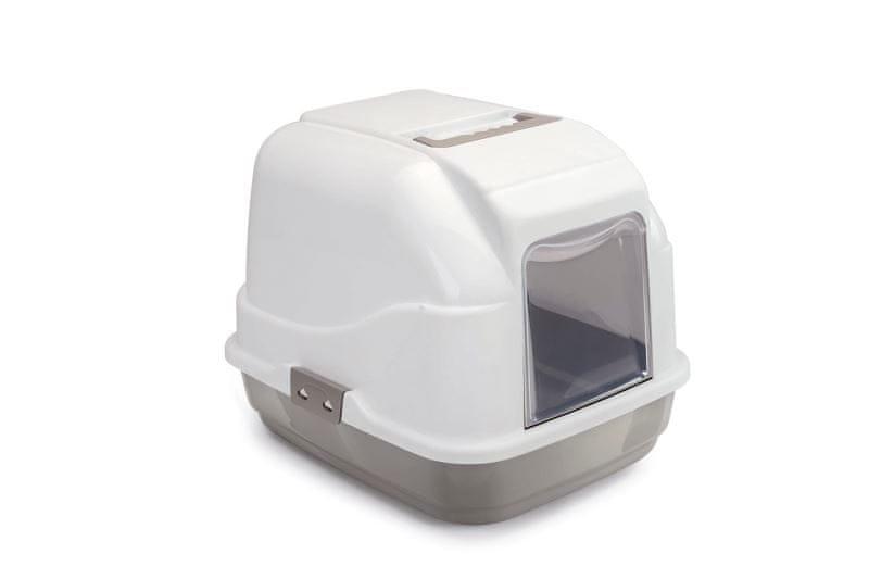 IMAC Krytý kočičí záchod s uhlíkovým filtrem a lopatkou, béžový 50