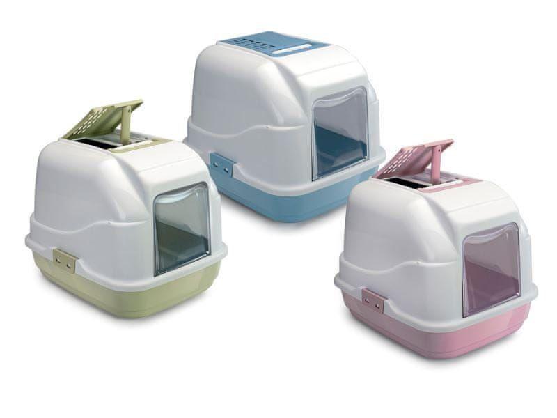 IMAC Krytý kočičí záchod s uhlíkovým filtrem a lopatkou, modrý 50